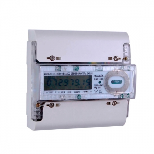 Smart Two Phase Three Wire DIN RAIL Meter DSS1088